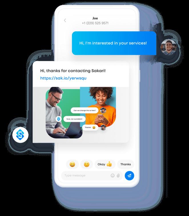 Sakari text messaging example