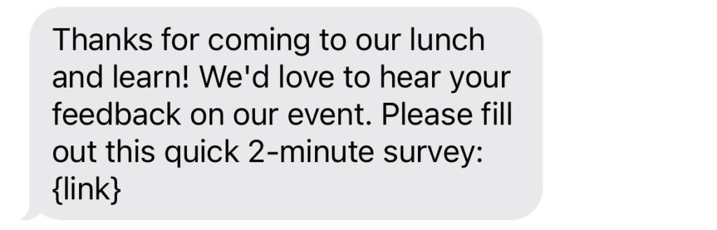 feedback sms