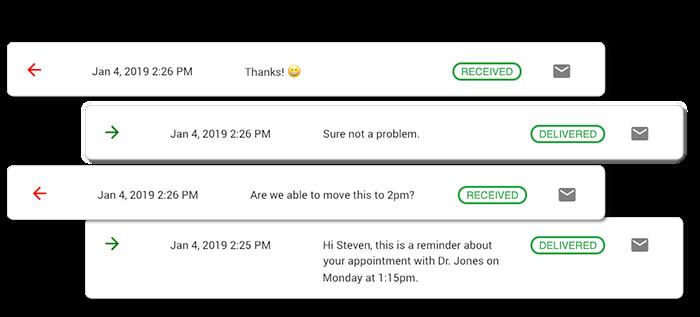 business text message conversation