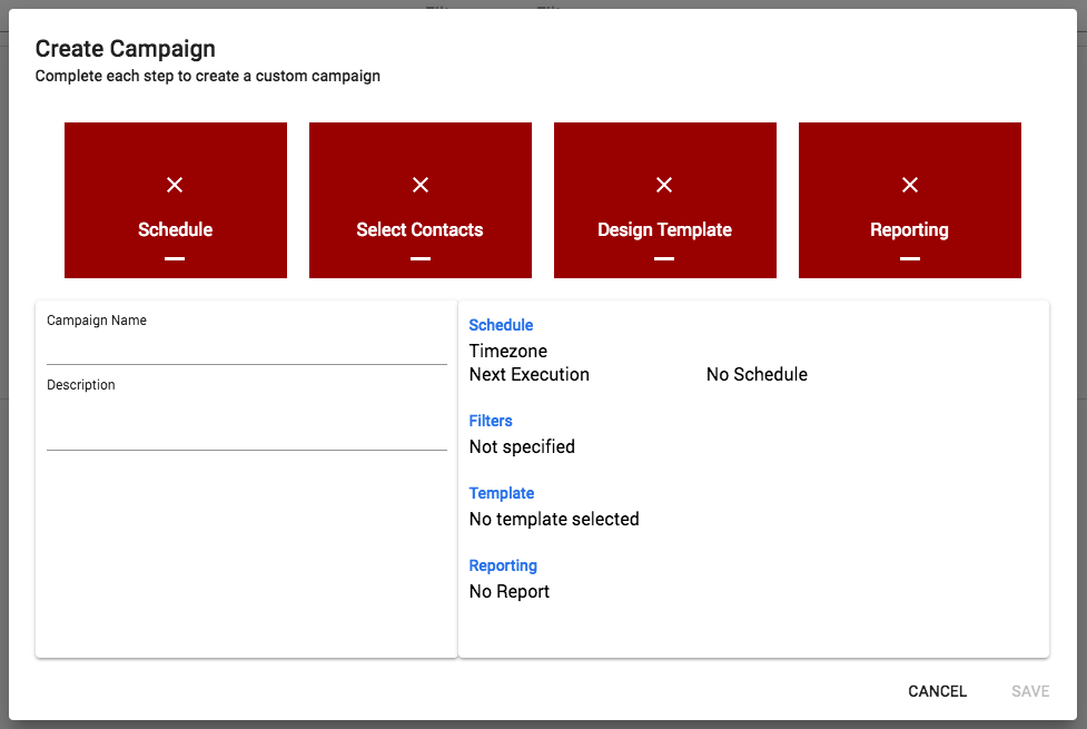 campaign creation steps