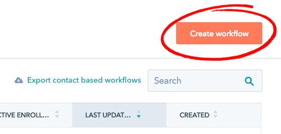 hubspot create workflow