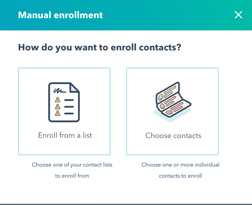 enroll options