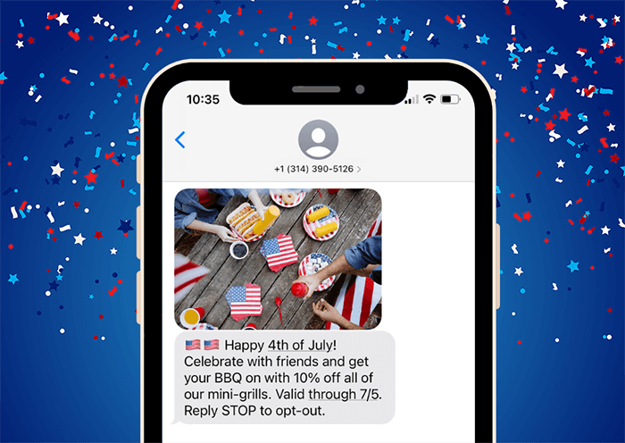 4th of july sms marketing