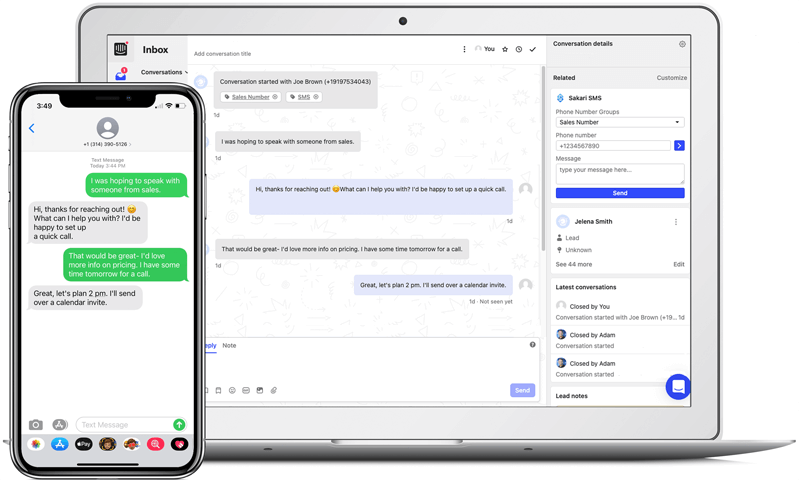 intercom text messaging