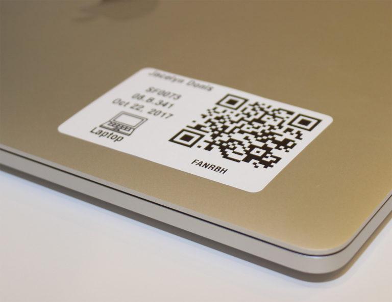 QR code on laptop