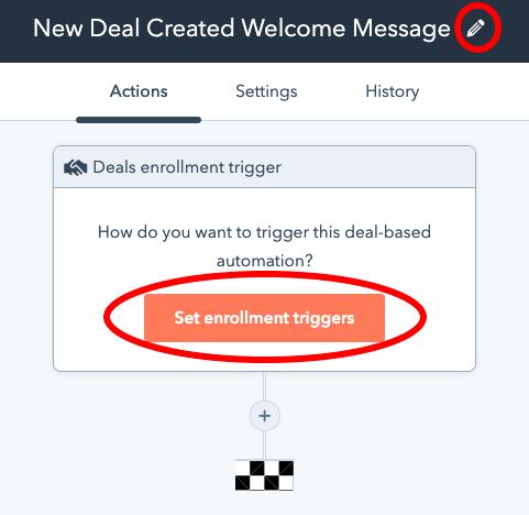 enrollment triggers