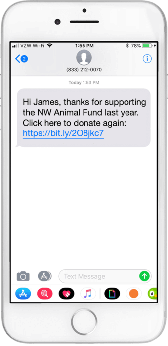 nonprofit text to give