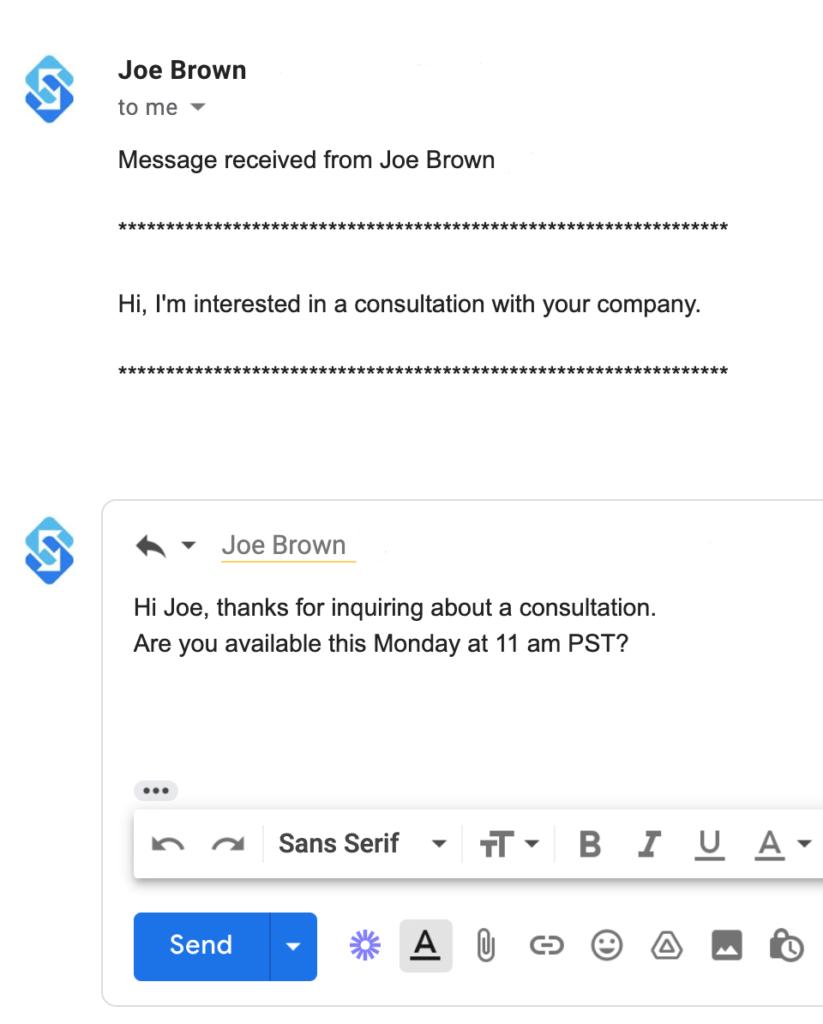 sakari email to sms