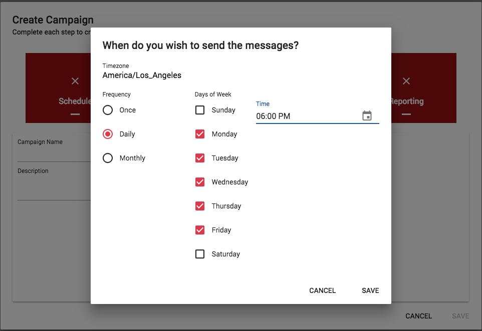 text message scheduling