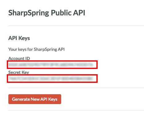 sharpspring api keys