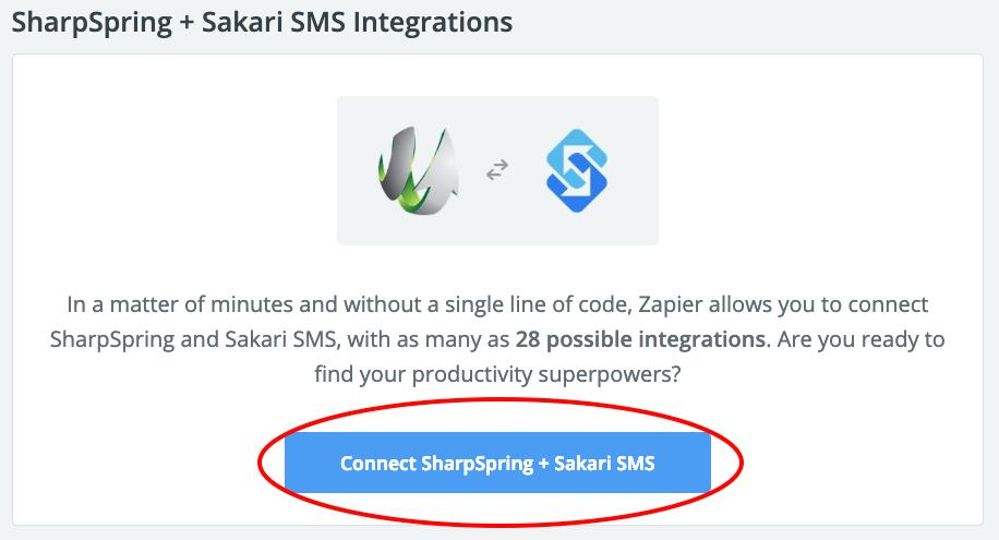 connect sharpspring and Sakari