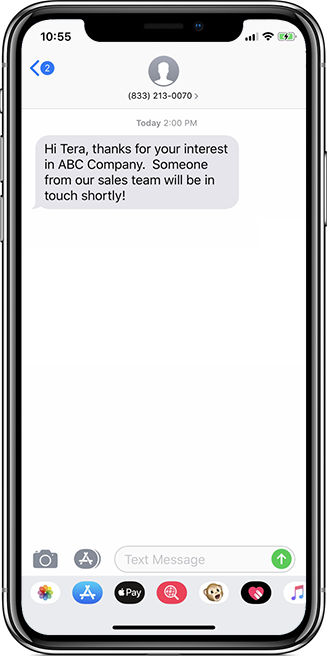 sharpspring sms example