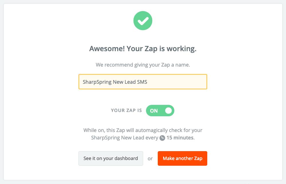 sharpspring zap