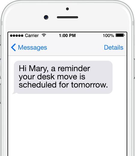 moving reminder SMS
