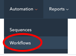 workflows menu